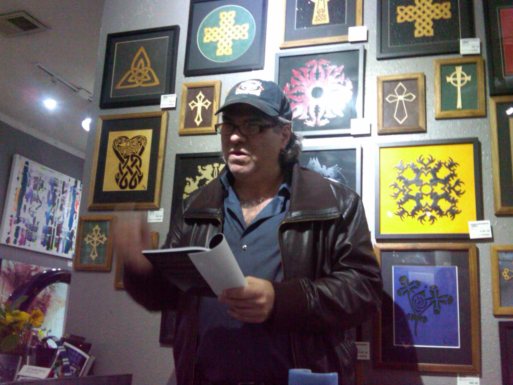 Poet Ken at Starving Artist Gallery Houston Texas, 2014