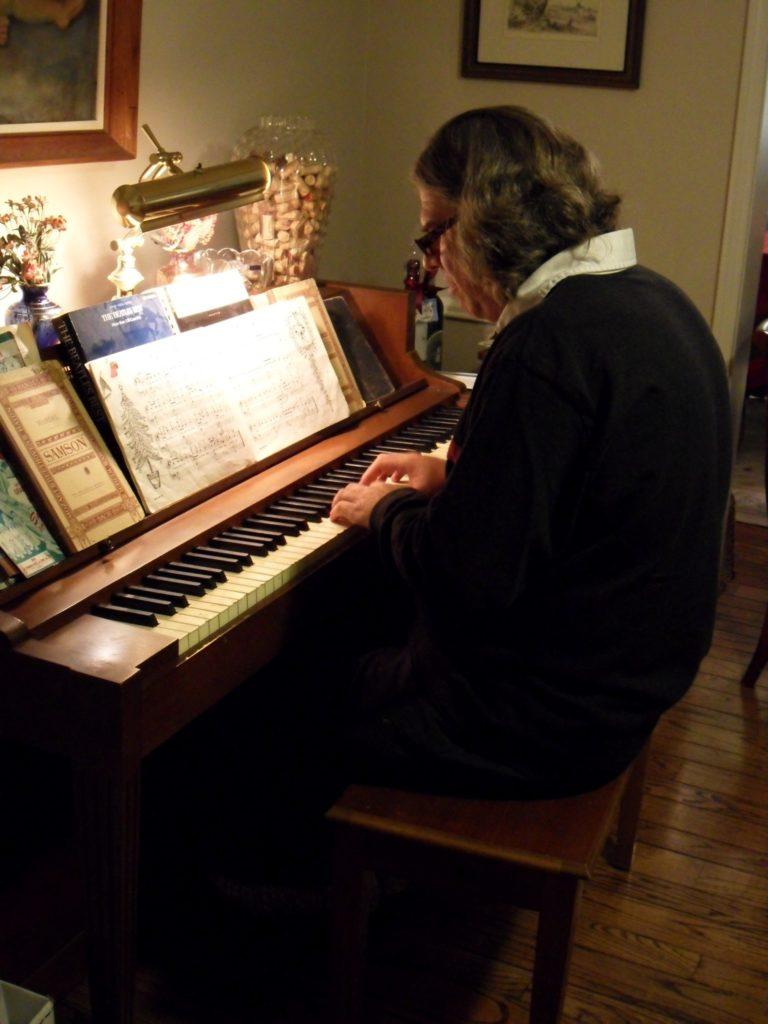 Poet Ken at Piano